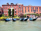 Gondolas in Grand Canal, Venice, Italy — Stock Photo