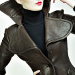 Fashion portrait of beautiful womin jacket — Stock Photo #10667959