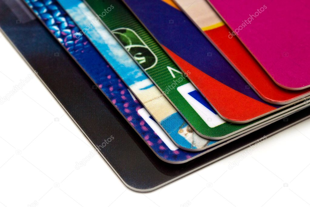 A stack of plastic cards — Stock Photo #10207870