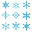 Snowflakes Vector Illustration - Stock Vector