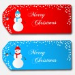 Stock Vector: Christmas Sale Tags