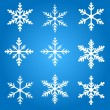 Snowflakes Vector Illustration — Stock Vector