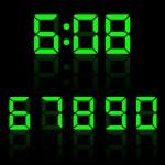 Clock Digits Illustration — Stock Vector