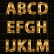 Gold Vector Alphabet Set - Stock Vector