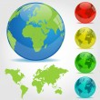 Colorful Earth Globes Illustration — Stock Vector #10017393