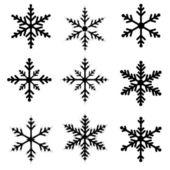 Fiocchi di neve vettoriale illustrazione — Vettoriale Stock