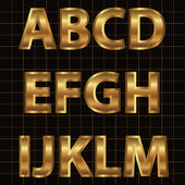 Gold Vector Alphabet Set — Stock Vector
