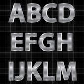 Silver Alphabet Set — Stock Vector