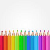 Colored Pencils Illustration — Stock Vector