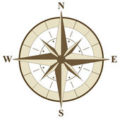 Compass Rose Illustration — Stock Vector
