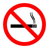 No Smoking Sign Illustration — Stock Vector
