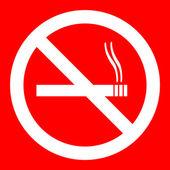 No Smoking Sign Illustration — Stock Vector