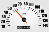 Speedometer Illustration — Stock Vector