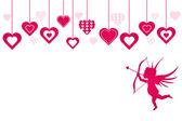 Ilustración de fondo de san valentín — Vector de stock