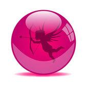 Valentin globus — Stockvektor