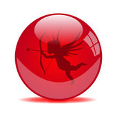 Valentine Globe — Vector de stock