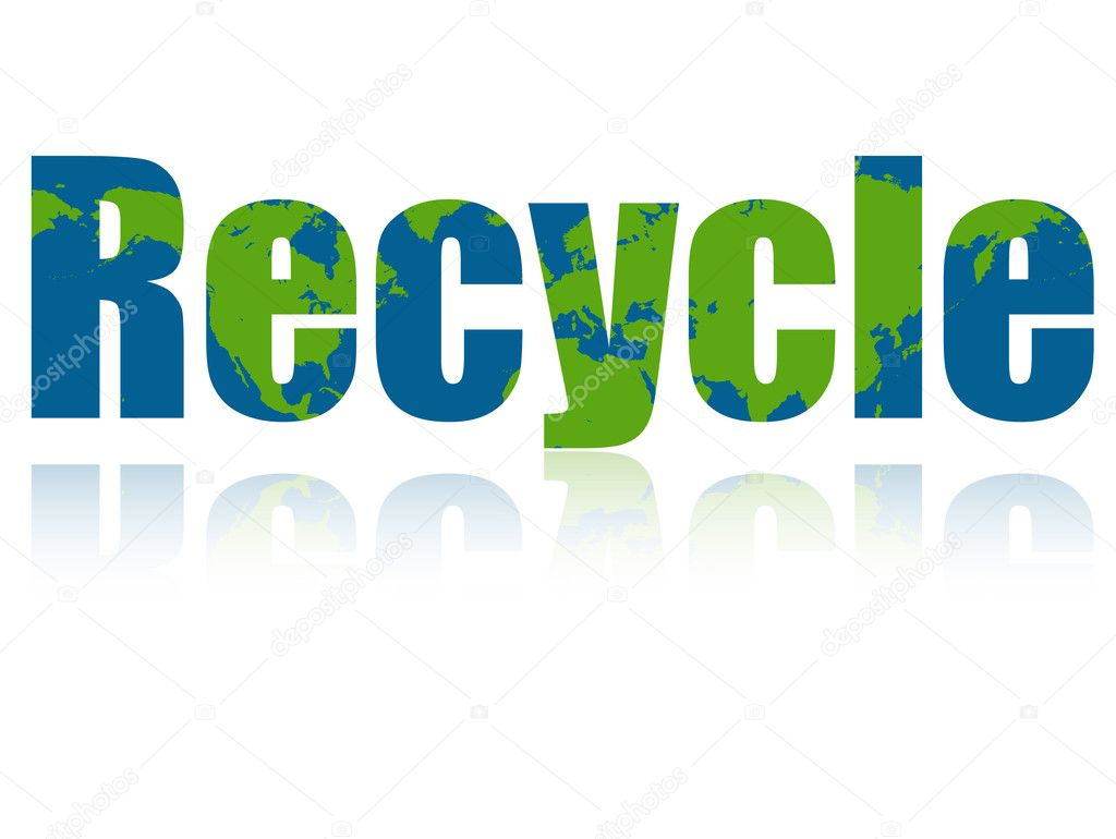 Recycle Earth Illustration  Stock Vector #10017415