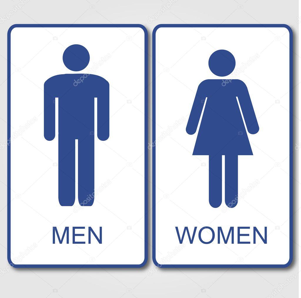 Sinal de banheiro — Vetor de Stock © smarques27 #10017506 -> Banheiro Feminino Vetor Free