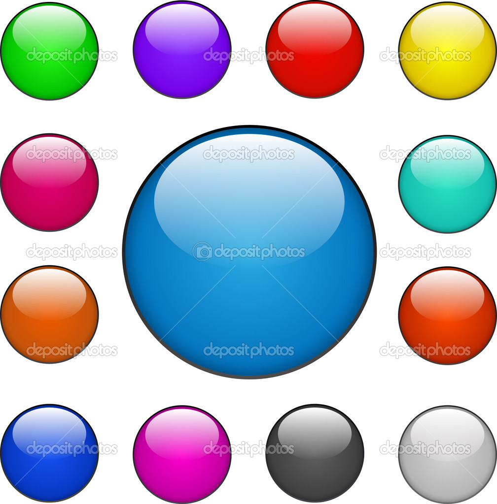 Colorful Vector Web Buttons — Stock Vector #10017682