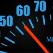 Speedometer Close-up - Stock Vector
