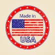 Vintage Made in USA Illustration - Stock Vector