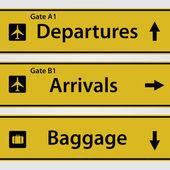 Luchthaven tekenen — Stockvector