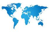 Wereld kaart illustratie — Stockvector