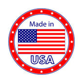 Made in USA Illustration — Stock Vector