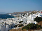 A view of the Mykonos town — Stock Photo