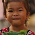 Cheerful little girl outdoor — Stock Photo #10168246