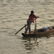 Stock Photo: Womon boat, Mekong, Vietnam