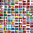 Stock Photo: Some world flags