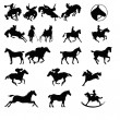 Stock Photo: Icons for horses