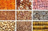 Collection of dried and mixed nuts — Stock Photo