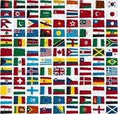 Some world flags — Stock Photo