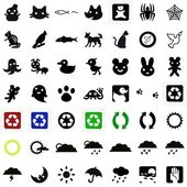 Animals and weather icons — Stock Photo