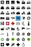 Health and home icons — Stock Photo