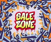 Sale Zone — Stock Vector