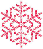 Sale snowflake — Stock Vector