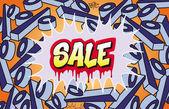 Sale Graffiti — Stock Vector