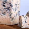 Cheese Roquefort slices — Stock Photo