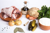 The ingredients for the soup — Stock Photo