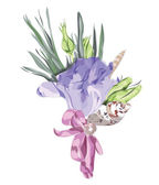 Wedding Floral Decor with Eustoma. — Stock Vector
