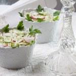 Salad of fresh vegetables — Stock Photo