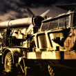 Vintage russian military transport with rockets — Stock Photo
