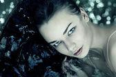 女人肖像水 — 图库照片