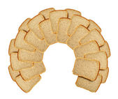 Slices of bread isolated — Stock Photo