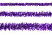孤立在白色背景上的紫 tinselsample — 图库照片