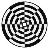 Círculo blanco y negro aislado — Foto de Stock