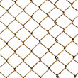 Old lattice isolated on white — Stock Photo